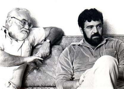 Saul Saentz (izq.)  y Ralph Bakshi (1978)
