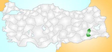 Mapa de Turquia con Batman iluminado (cortesia de Wikipedia)