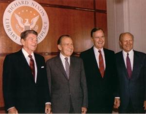 Escuela de Gobierno: Reagan, Nixon, Bush y Ford