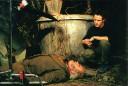 """Robert Morgan en el set de """"El gato con manos"""""""